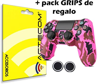 ACTECOM® Funda Carcasa + Grip Silicona Camuflaje Mando Sony PS4 Playstation 4 Camuflaje Rosa: Amazon.es: Electrónica
