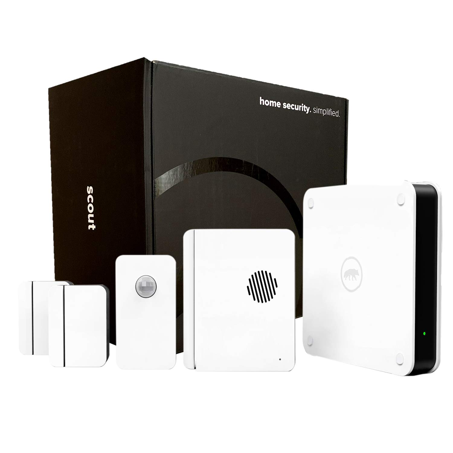 Scout Alarm Smart DIY Wireless Home Security System | 5 Piece Kit - Perfect for Homes & Apartments Under 2000 Sq Ft | Works with Alexa | 24/7 Professional Monitoring | No Contract