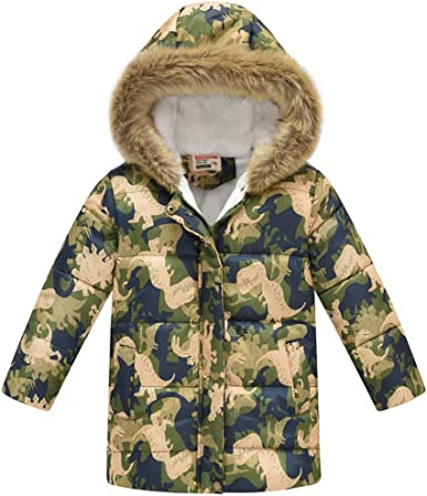 Toddler Camouflage Print Winter Warm Hooded Windproof Coat