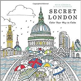 Amazon Secret London Color Your Way To Calm 9780316546102 Rosie Goodwin Alice Chadwick Books