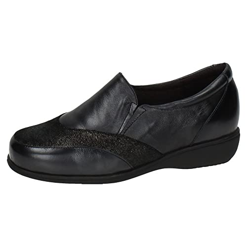 Made IN Spain 53529 Mocasines DE Piel SEÑORA Zapatos MOCASÍN Negro 36: Amazon.es: Zapatos y complementos