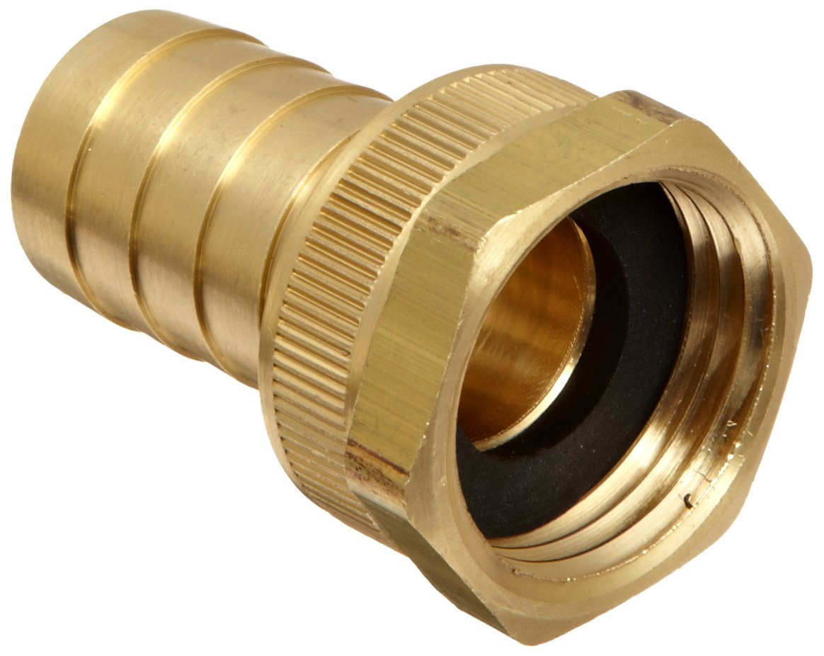 Dixon BCF76 Brass Hose Fitting, Machined Coupling with Swivel Nut, 3/4