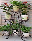 Six-storey flower racks wrought iron balcony living room indoor floor to ceiling pot racks-C