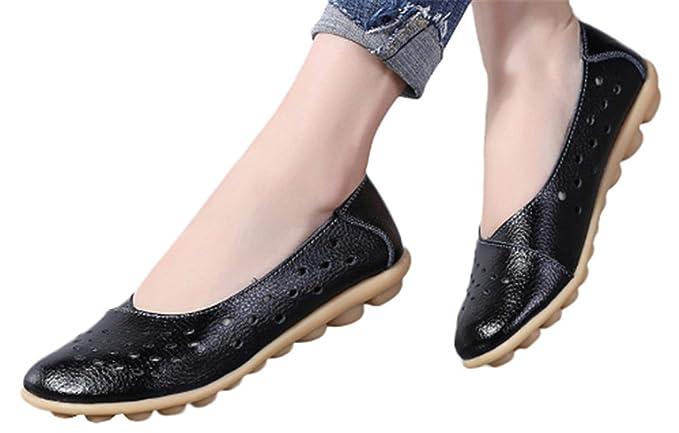 248676692f42a Amazon.com: Falt Wedge Shoes Lady Office Sandals Shoes Hollow Out ...