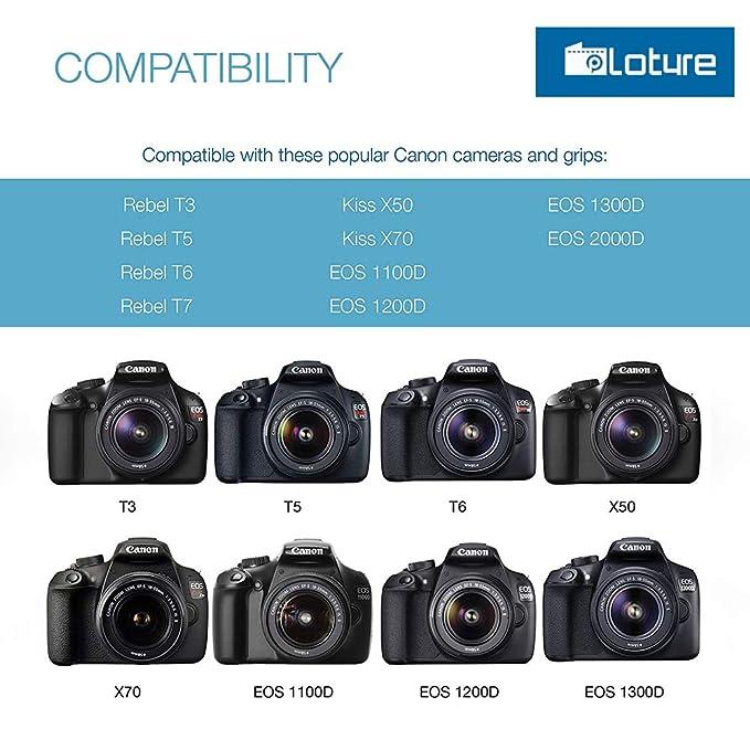 Amazon.com: LP-E10 2-Pack Replacement Battery,Ploture Camera ...