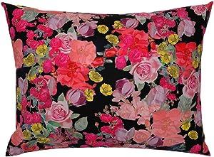 Roostery Pillow Sham, Floral Rose Garden Vintage Nature Modern Kitchen Print, 100% Cotton Sateen 26in x 26in Knife-Edge Sham