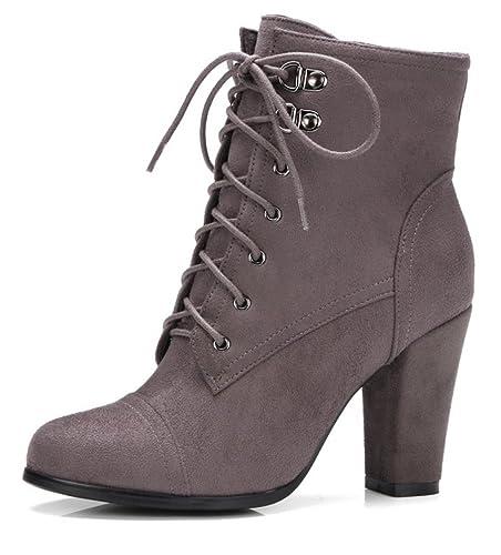 SHOWHOW Damen Nubuk Kurzschaft Chelsea Boots Mit Absatz Schwarz 34 EU 1KYyNn