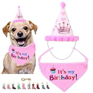 Cumpleaños Perro Set, La Bufanda del Cumpleaños del Perro ...