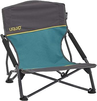Uquip Sandy – Silla de Playa Plegable, cómoda y Estable, Azul/Gris ...