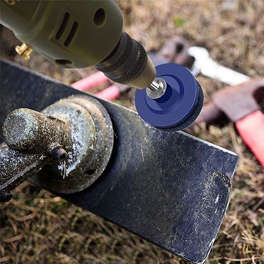 1.97 X 1.85in Multi Blade Sharpener Garden Tools For Power Drill Hand Drill belukies Lawn Mower Blade Sharpener Cylinder Mower Blade Balancer