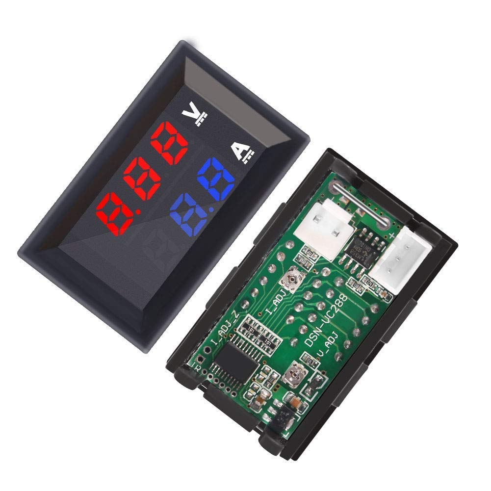 Dual Display Digital Voltmeter Ammeter Panel AiTrip 0.28 High Accuracy LED Digital DC 0-100V//100A Voltage Current Tester Monitor Panel Gauge for Car Auto Moto Automotive Vehicle