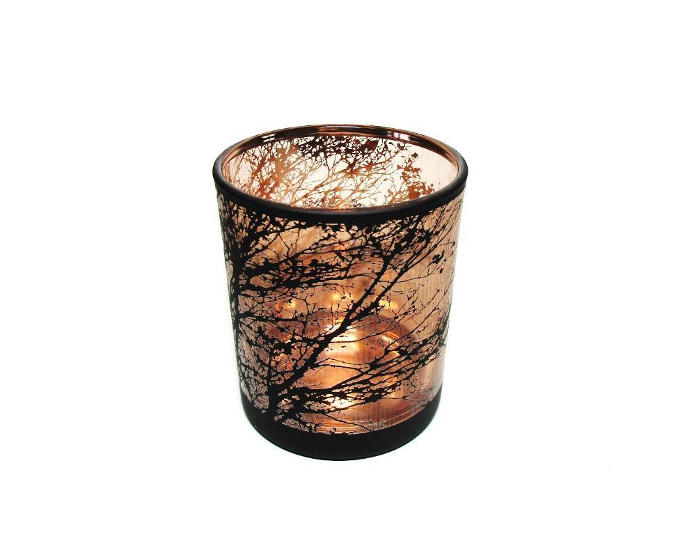 Kicode Verre en crystal Bougeoir suspendu Bougeoir de terrarium dusine Terrarium en verre