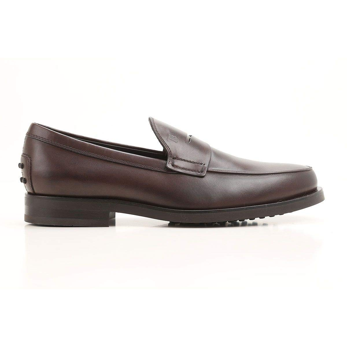- Tod's Men's XXM0ZF0U100D90S800 Brown Leather Loafers