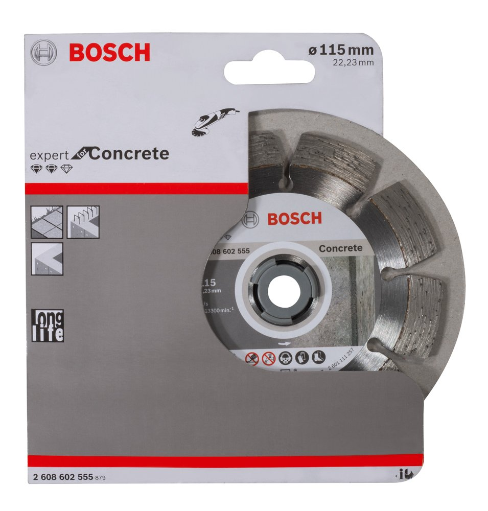 Bosch 2608602556 Disque /à tron/çonner diamant/é expert for concrete 125 x 22,23 x 2,2 x 12 mm