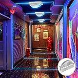 Cinoton LED 10W Window Light Garage Door Frame Lighting LED Wall Washer Light (Blue)