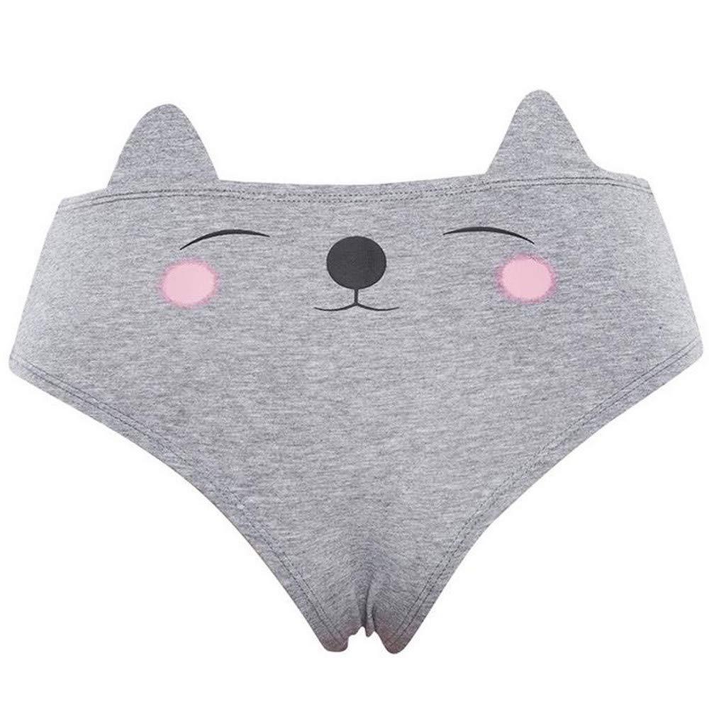 Xiaojmake Women Funny Lingerie G-String Briefs Underwear T String Thongs Knickers Panties (M, Gray)