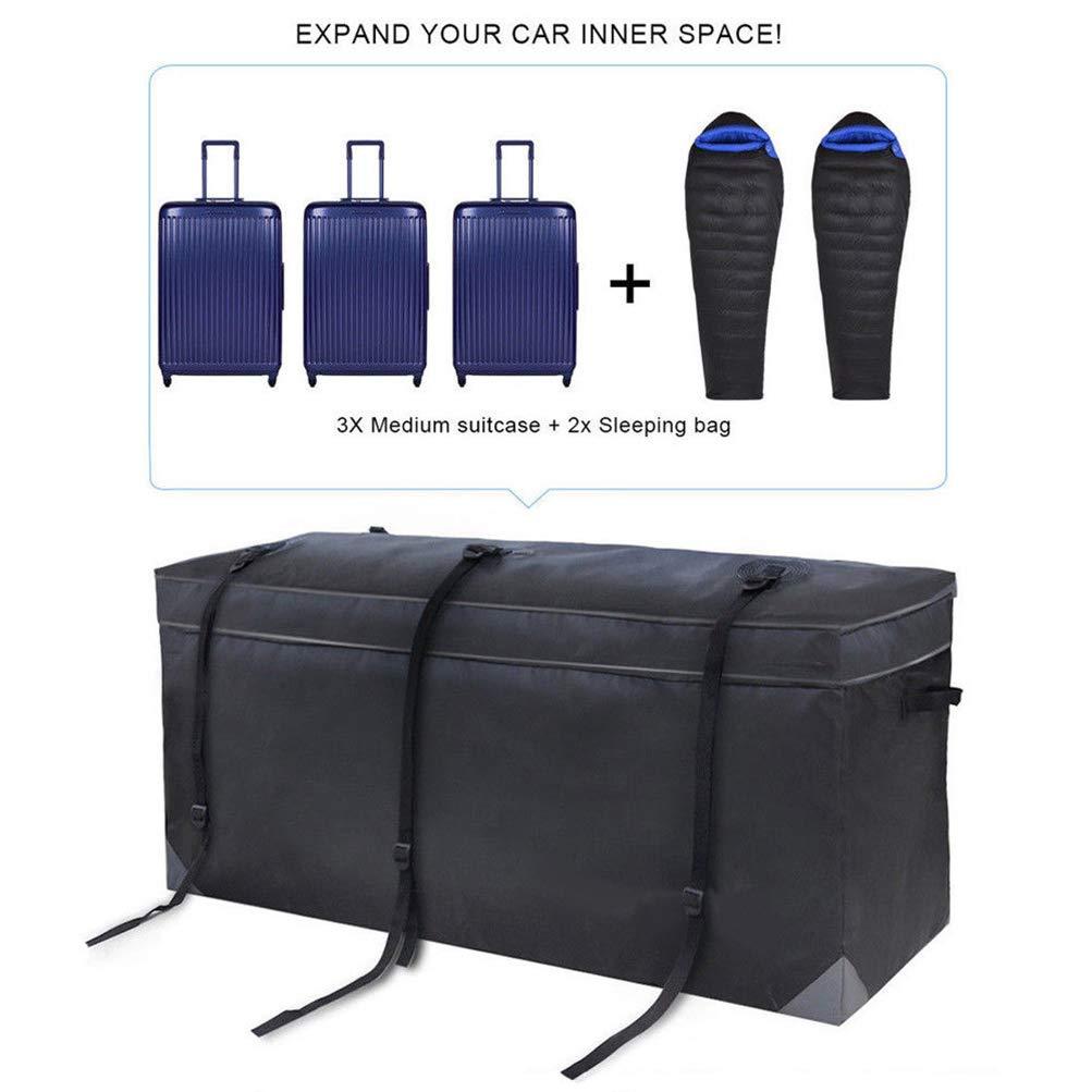 OCPTY Rooftop Cargo Carrier Bag,Heavy Duty Roof Bag 20 Cubic Feet,Black Waterproof PVC Soft Car Roof Bag