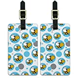 Graphics & More Bumble Buzz Insect Honey-Happy Bee On Blue, White