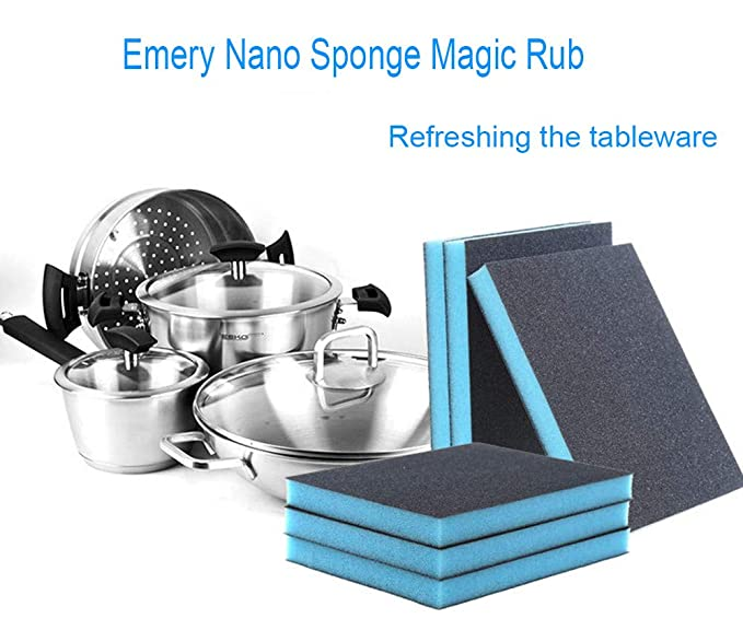 Nano Emery Magic Cleaning Brush Sponge Rub Pot Rust Focal Stains Removing Tool Vacuum Cleaner Parts Cleaning Appliance Parts Vacuum Cleaner Parts