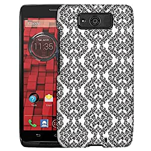 Motorola Droid Ultra Case, Slim Fit Snap On Cover by Trek Victorian Stunning Black on White Case