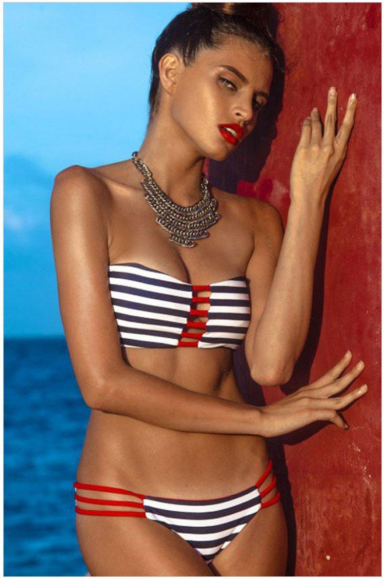 XX&GXM Frauen Badeanzug Niedrige taille Dreieck Strand Bikini