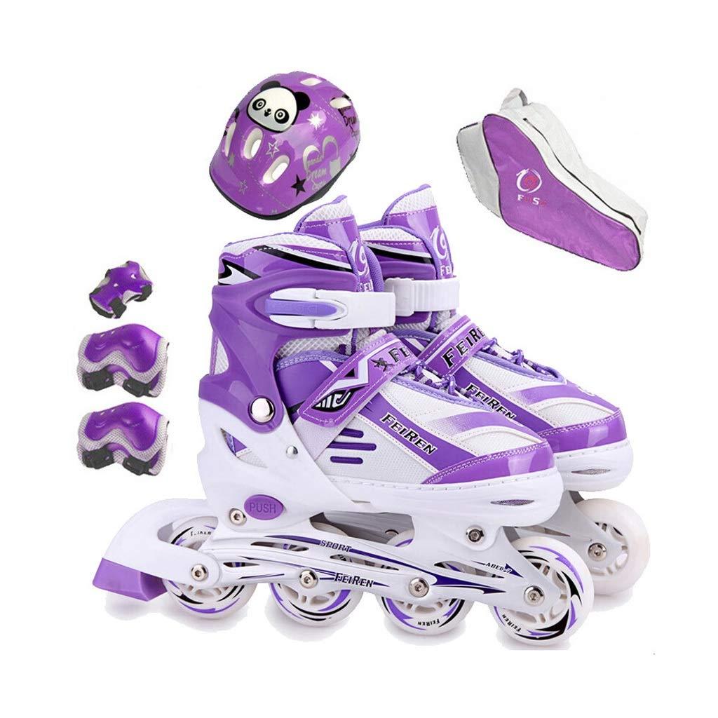 YANG ティーンローラースケート、パフォーマンスインラインスケート、初心者に適した、男性、ローラースケートを使う女性、パープル (Size : L(EU 38 - EU 42))  L(EU 38 - EU 42)