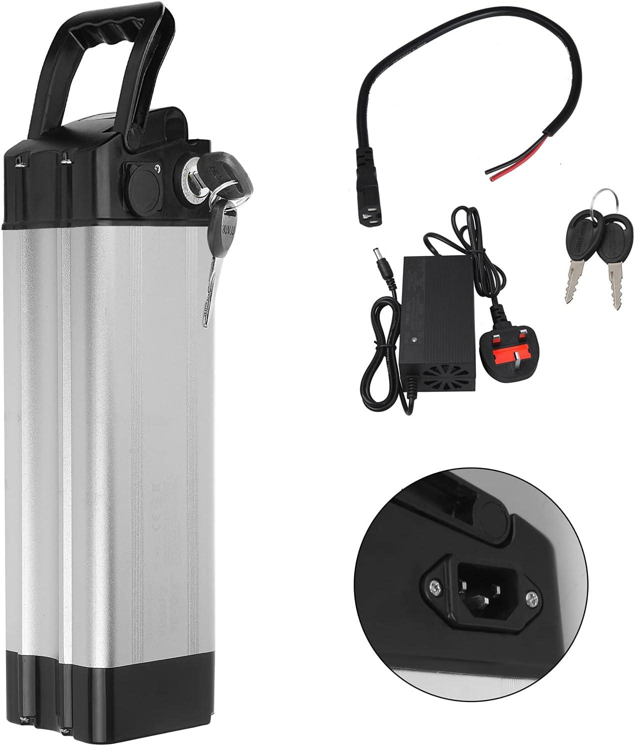 36V E-bike Battery Electric Bicycle Li-ion 10Ah 15Ah 17Ah Lockable w// Charger UK