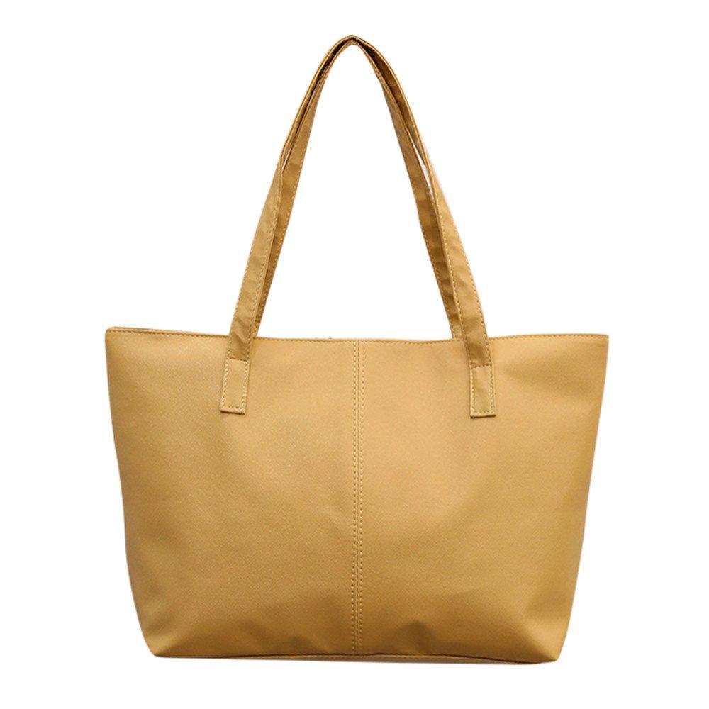 bf06e5b5ea047 Goosuny Damen Shopper Lederhandtaschen Einfach Klassisch Groß Leder Taschen  Umhängetasche Tote Handtasche Reisetasche Frauen Schöne Taschen Black ...
