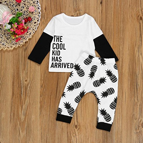 d2b2b8012 For 6-24 Months Baby,DIGOOD Infant Baby Long Sleeve Letter T-shirt+ ...