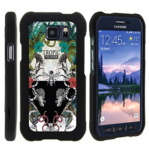 MINITURTLE Case Compatible w/ S6 Active Case, Slim Hard Shell Snap On Case w/ Custom Images for Samsung Galaxy S6 Active SMG890 (AT&T) Exotic Tropic Thunder