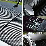 3D Carbon Fiber Vinyl Sticker for Motorcycle Car