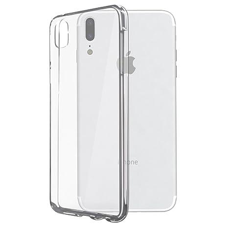 Hatekh Carcasa de Silicona para iPhone X TPU Transparente, a ...