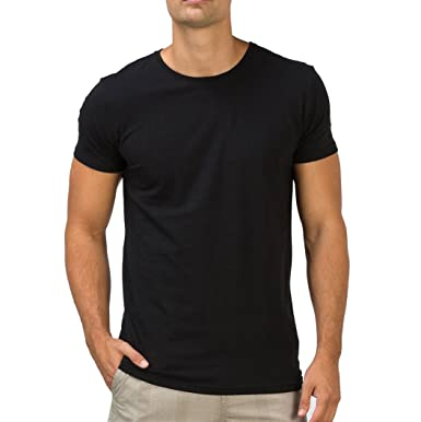 09bc5548cb3 fanideaz Round Neck Cotton Plain T Shirt for Men  Amazon.in  Clothing    Accessories