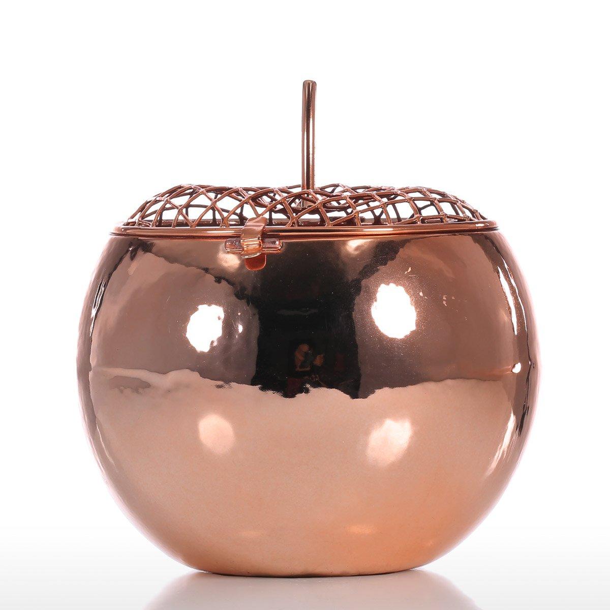 Tooarts Pomme Tirelire en M/étal Sculpture en M/étal Money Bank Tirelire Cadeau Tirelire Ornement D/écoratif Bo/îte de Rangement Mini