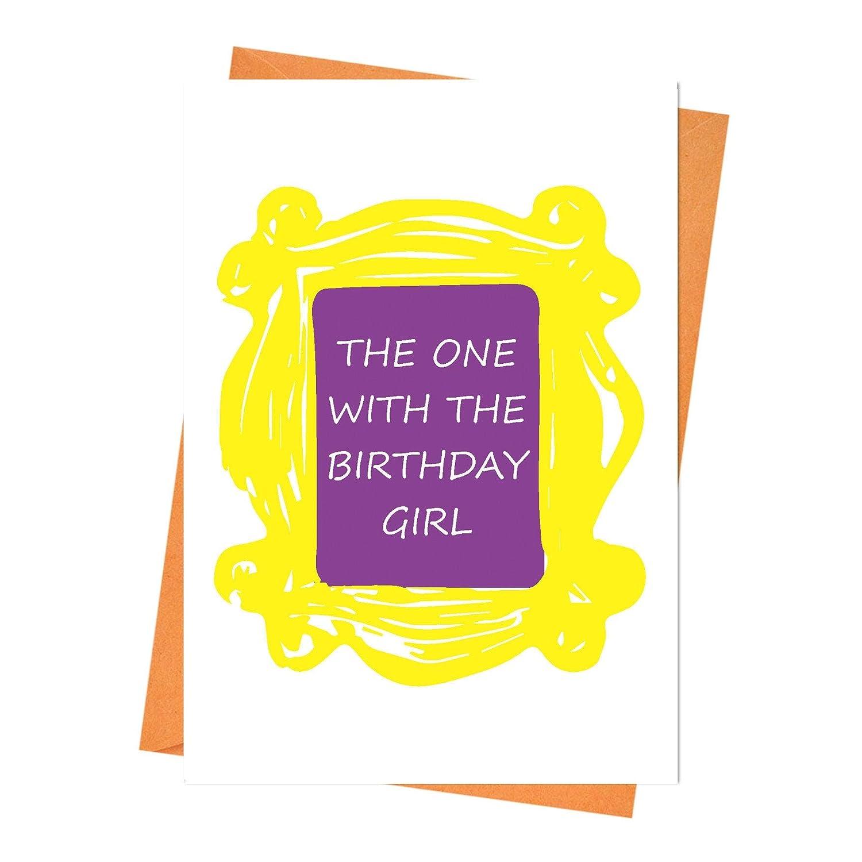Husband Birthday Card The One with The Birthday Girl Friends Greeting Card Boyfriend Birthday Friends Birthday Card Funny Birthday Card