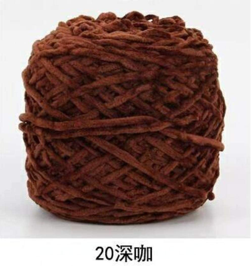 JUIC 200 g de diámetro de Textura cálida de Hilo de Chenille DIY Crochet Tejer Marionetas Juguetes suéteres Sombreros Calcetines, 20