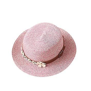 e767ce2ce16 Womens Hats Caps - Garrelett Braided Straw Hat Roll-up Brim Caps Daisy Belt  Decoration