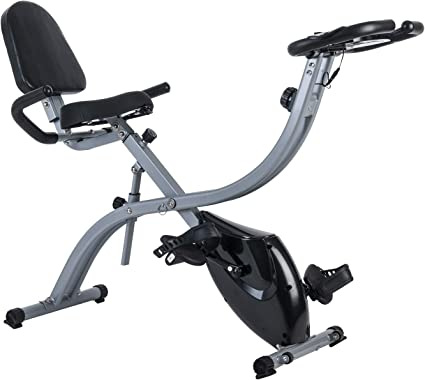 X-bike Fold Magnetic Upright Aerobic Fitness Bicycle Training Exercise Flywheel