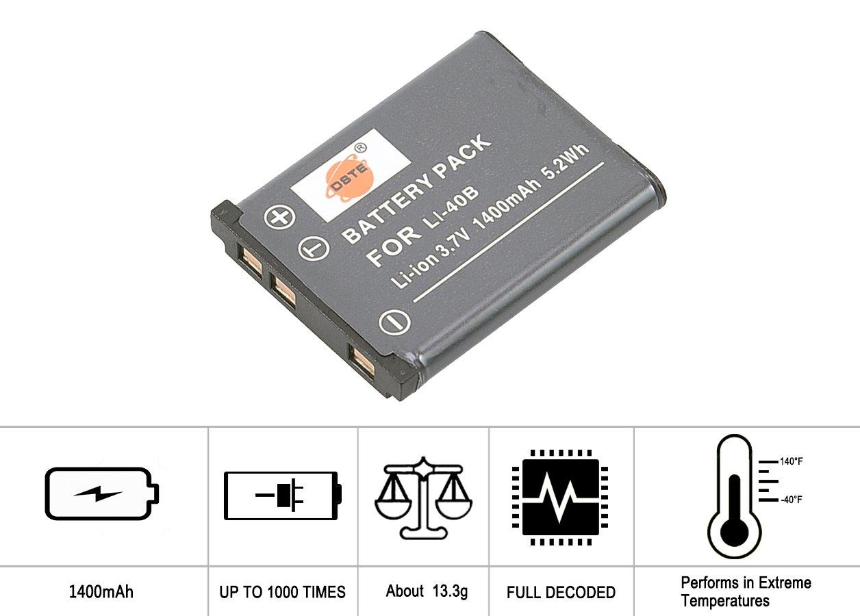 Batería de la cámara para Olympus FE-150//FE-160//FE-190//FE-240