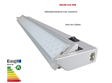 Réglette LED LLH 208 Rolux Lampe de cuisine orientable en aluminium