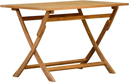 teca mesa plegable