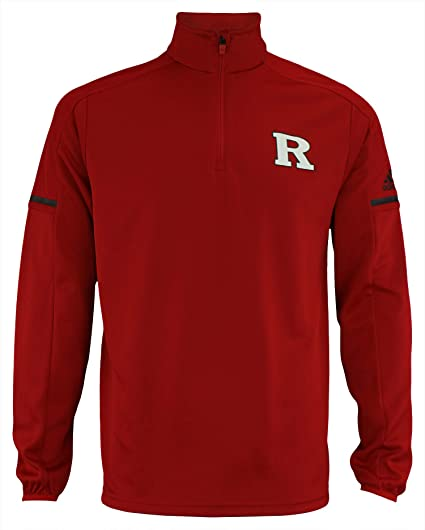the latest 413e9 bfbaf adidas Men s NCAA Team Logo 1 4 Zip Pullover, Rutgers Scarlet Knights-  Power Red Small, T-Shirts   Tops - Amazon Canada