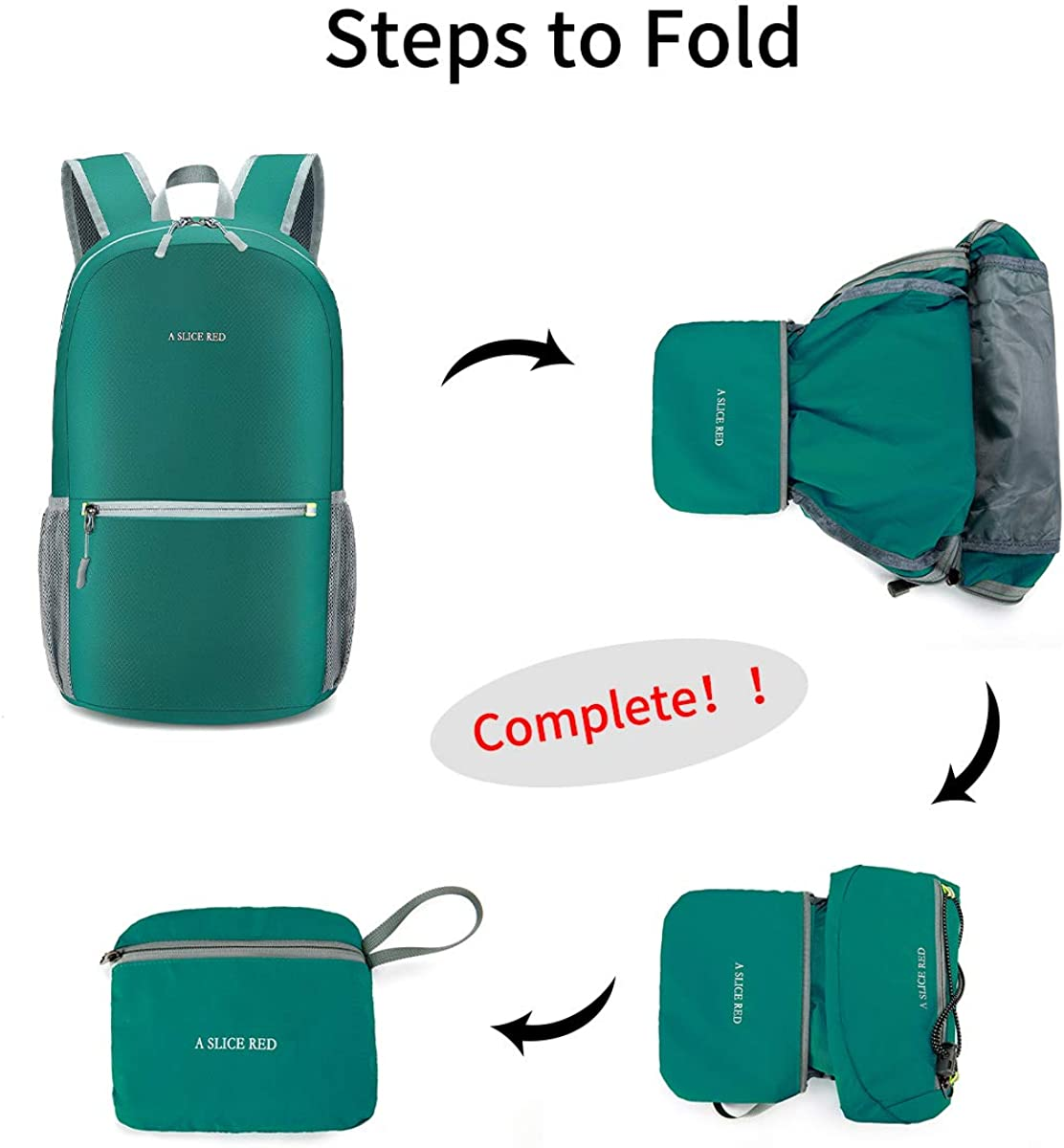 A SLICE RED Ultra Lightweight Packable Backpack The Most Durable Water Resistant Travel Hiking Backpack Daypack