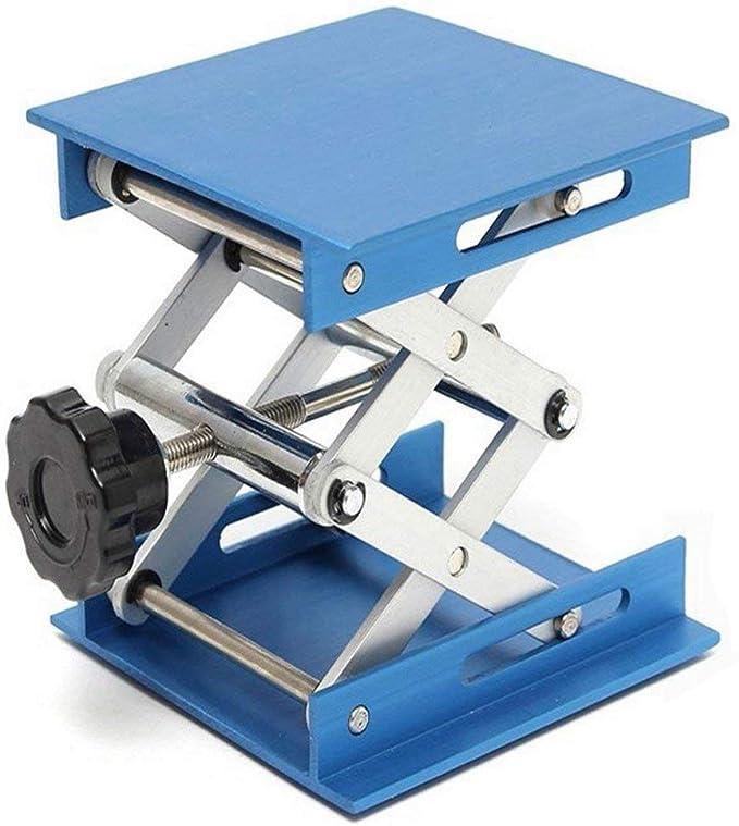 without brand CCH-TFGZ, 1pc aleación de Aluminio Laboratorio Jack Plataforma elevadora de Tijera Plegable de elevación Tabla Pad de Control de Altura Ideal carpintería de Partes de máquinas: Amazon.es: Hogar