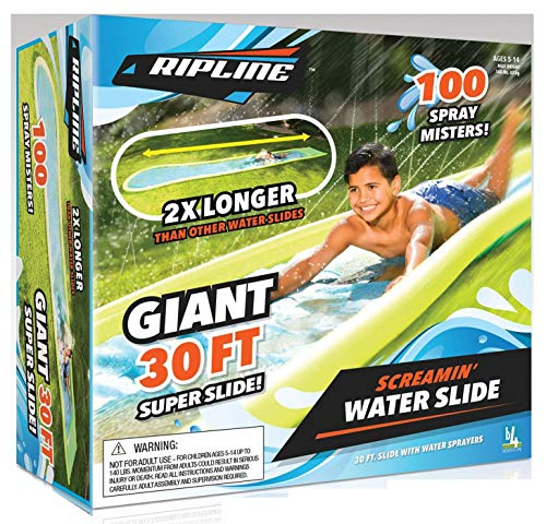 Ripline Giant 30' Screamin Water Slide with Sprayers