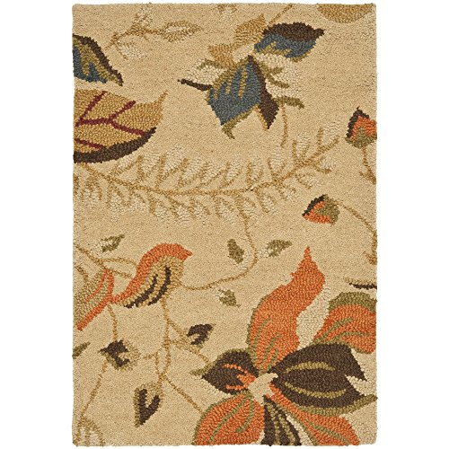 Safavieh Blossom Collection BLM913C Handmade Beige and Multi Premium Wool Area Rug (2' x 3')