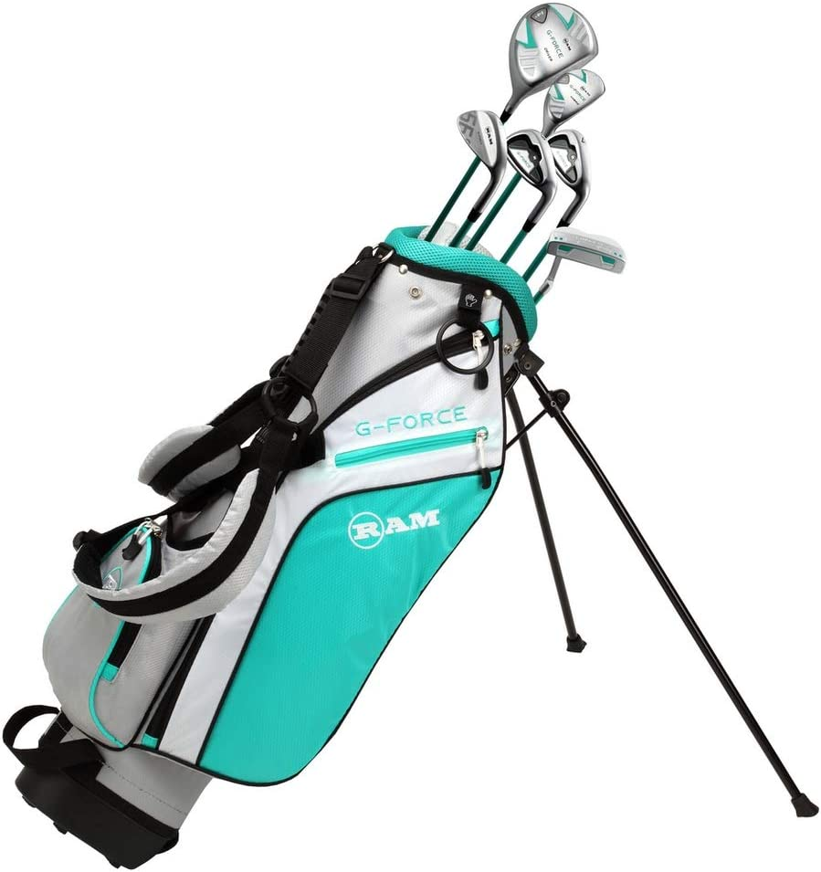 Amazon Com Ram Golf Junior G Force Girls Right Hand Golf Clubs Set With Bag Sports Outdoors