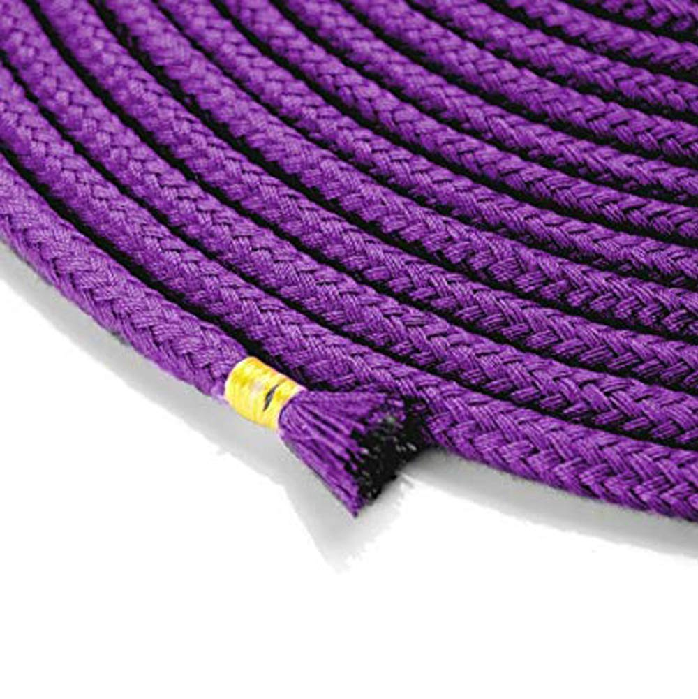 Soft Cotton Rope-64 feet 20m Multi-Function Natural Durable Long Rope eith Gold end Decorated 2 Pack of Purple
