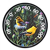 American Made Goldfinches Large Dial Thermometer Round USA