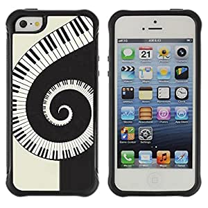 "Hypernova Defender Series TPU protection Cas Case Coque pour Apple iPhone SE / iPhone 5 / iPhone 5S [Música espiral Piano""]"